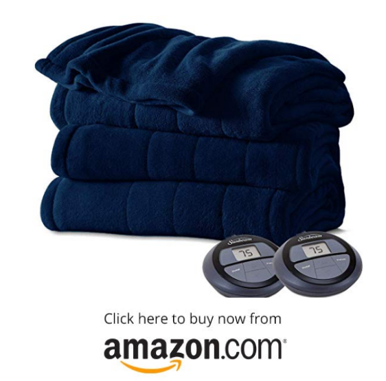 Sunbeam Imperial Plush Heated Blanket on amazon