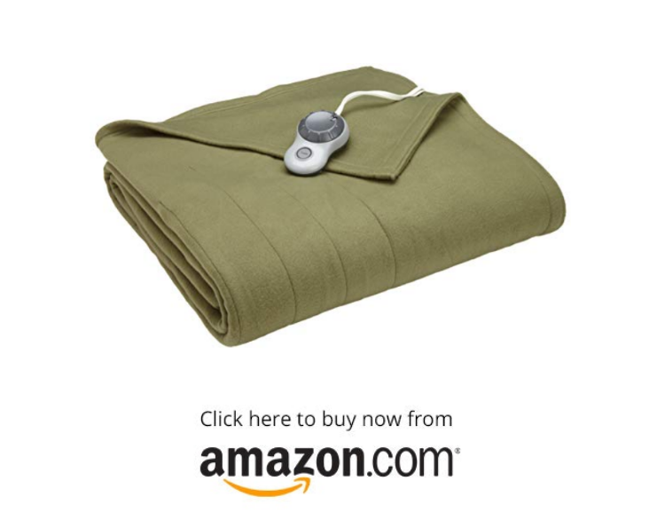 Sunbeam Heated Blanket on amazon