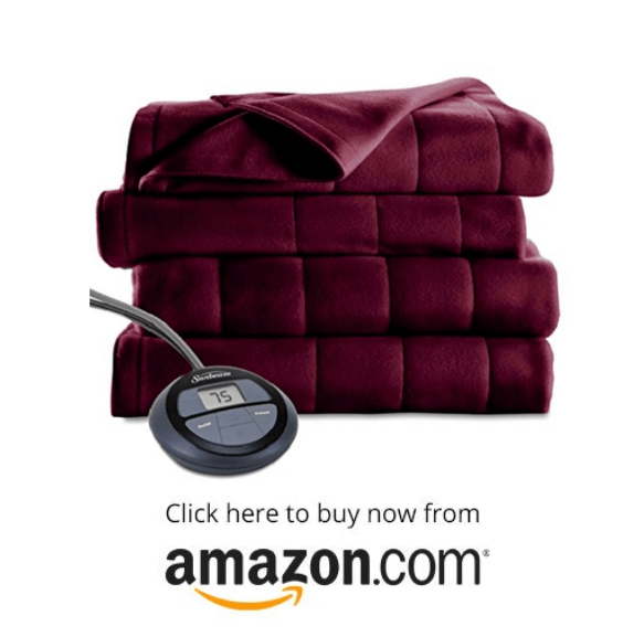 Sunbeam Heated Blanket - MIcroplush on amazon