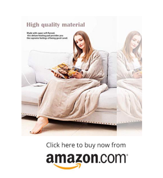 Tefici Electric blanket Heated Throw on amazon